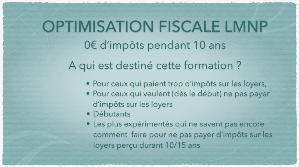 0€ d'impôts LMNP POUR QUI