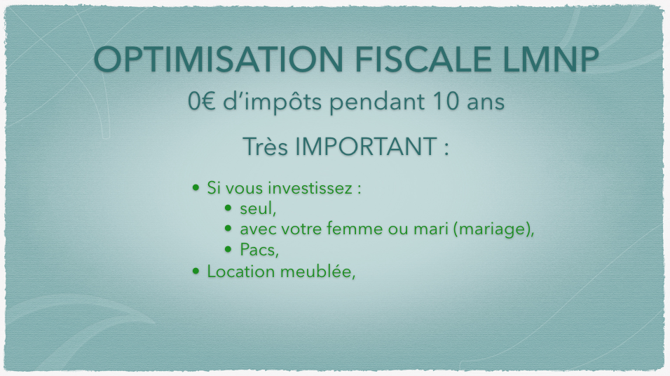 0€ d'impôts LMNP IMPORTANT