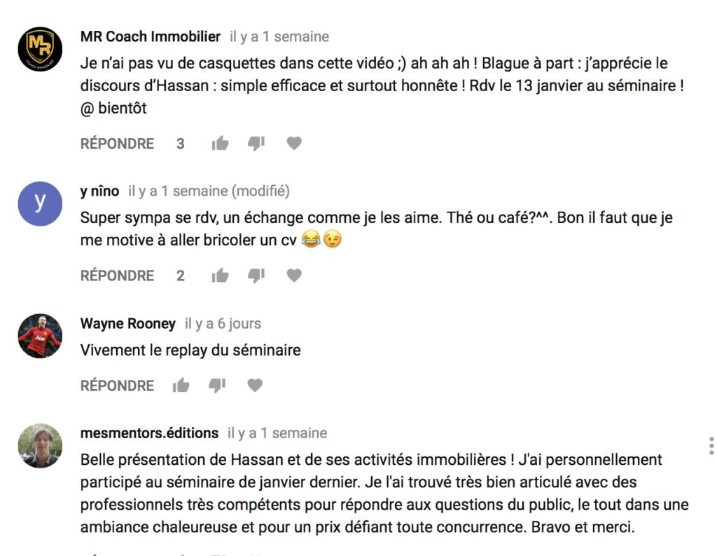 hassan le pro de l'immo Sébastien D COMMENTAIRES