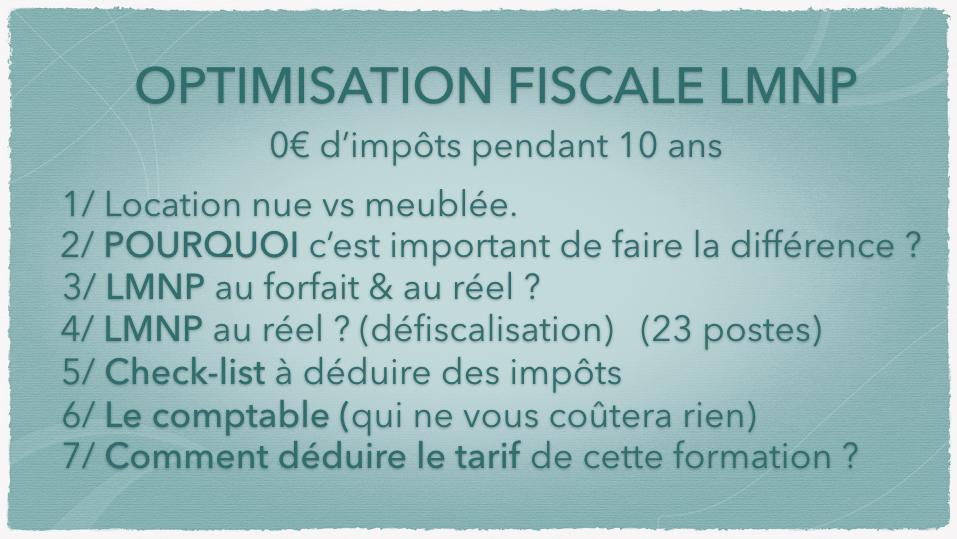 0€ d'impôts LMNP PROGRAMME